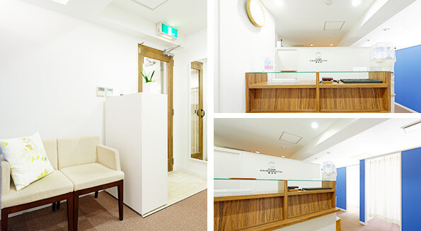 コア・カイロプラクティック錦糸町の受付・待合室の写真